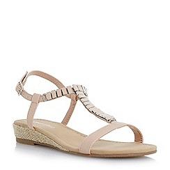 Roberto Vianni - Neutral embellished rope wegde sandal