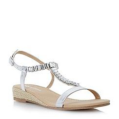 Roberto Vianni - Metallic embellished rope wegde sandal