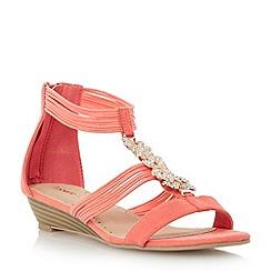 Roberto Vianni - Red embellished wedge sandal