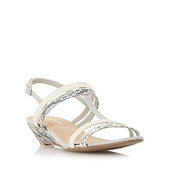 Roberto Vianni - Grey 'Kennon' strappy t-bar wedge sandal