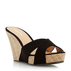 Roberto Vianni - Black cross over mule wedge mule sandal