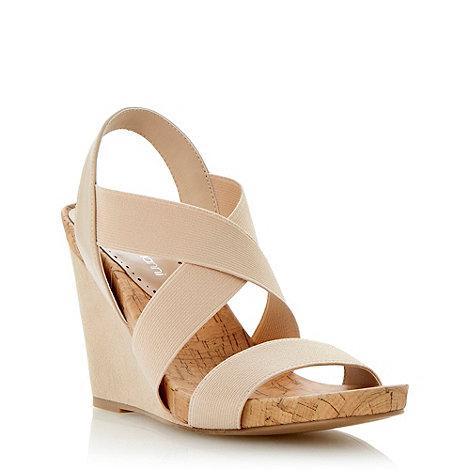 Roberto Vianni - Neutral elasticated strap wedge sandal
