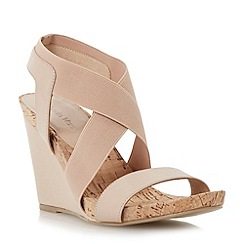 Roberto Vianni - Neutral elasticated crossover strap sandal