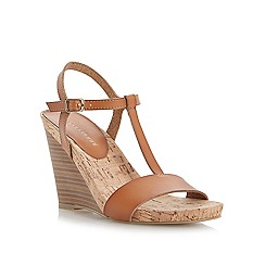 Roberto Vianni - Brown t-bar footbed wedge sandal