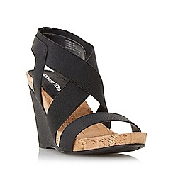 Roberto Vianni - Black 'Kaitlin' front and cross strap wedge sandal