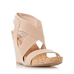 Roberto Vianni - Natural 'Kaitlin' front and cross strap wedge sandal