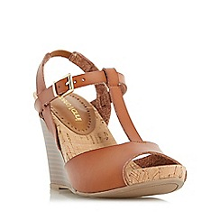 Roberto Vianni - Tan 'Kristy' wedge t-bar sandal