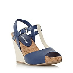 Roberto Vianni - Navy 'Kristy' wedge t-bar sandal