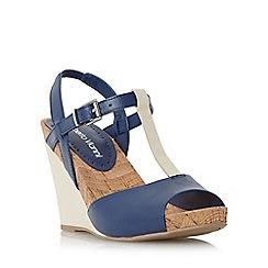 Roberto Vianni - Navy 'Kristy' wedge t-bar sandal