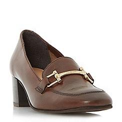 Roberto Vianni - Brown 'Arrister' horsebit trim court shoe