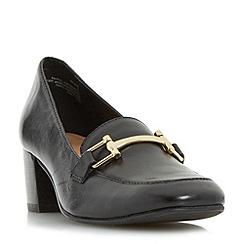 Roberto Vianni - Black 'Arrister' horsebit trim court shoe