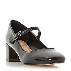 Roberto Vianni - Black 'Aluna' mary jane block heel court shoe