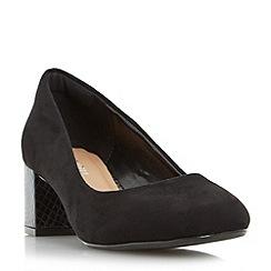 Roberto Vianni - Black 'Ayling' block heel round toe court shoe