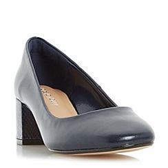 Roberto Vianni - Navy 'Ayling' block heel round toe court shoe