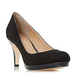 Roberto Vianni - Black 'Amelle' slim platform almond toe court shoe