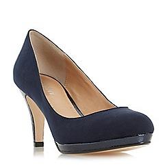 Roberto Vianni - Navy 'Amelle' slim platform almond toe court shoe