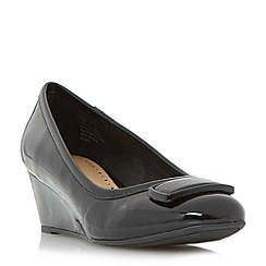 Roberto Vianni - Black 'Asten' brooch detail wedge court shoe