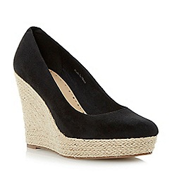 Roberto Vianni - Black espadrille wedge court shoe
