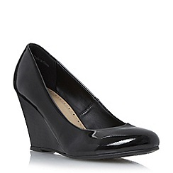 Roberto Vianni - Black 'Amaya' wedge heel court shoe