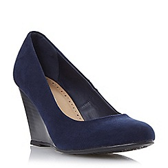 Roberto Vianni - Navy 'Amaya' wedge heel court shoe