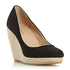 Roberto Vianni - Black 'Alondra' espadrille wedge court shoe