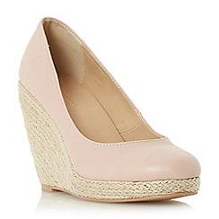 Roberto Vianni - Natural 'Alondra' espadrille wedge court shoes