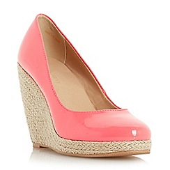 Roberto Vianni - Dark peach 'Alondra' espadrille wedge court shoe
