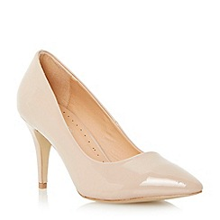 Roberto Vianni - Neutral pointed toe mid heel court shoe