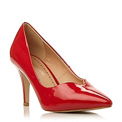 Roberto Vianni - Red pointed toe mid heel court shoe
