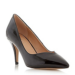 Roberto Vianni - Black pointed toe mid heel court shoe