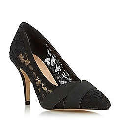 Roberto Vianni - Black 'Avara' lace cross over strap court shoe