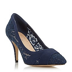 Roberto Vianni - Navy 'Avara' lace cross over strap court shoe
