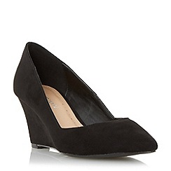 Roberto Vianni - Black 'Arlia' pointed toe wedge court shoe