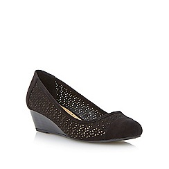 Roberto Vianni - Black laser cut wedge shoe