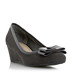 Roberto Vianni - Grey bow detail wedge court shoe