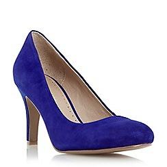 Roberto Vianni - Blue 'Ariadne' round toe mid heel court shoe