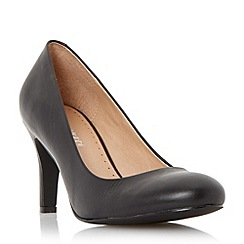 Roberto Vianni - Black 'Ariadne' round toe mid heel court shoe