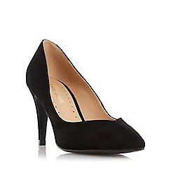Roberto Vianni - Black 'Albelo' sweetheart cut mid heel court shoe