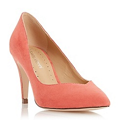 Roberto Vianni - Dark peach 'Albelo' sweetheart cut mid heel court shoe