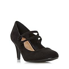 Roberto Vianni - Black 'Aida' double strap mary jane court shoe
