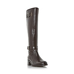 Roberto Vianni - Brown 'Torly' buckle detail elasticated knee high boot