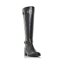 Roberto Vianni - Black 'Torly' buckle detail elasticated knee high boot