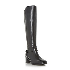 Roberto Vianni - Black 'Trebel' mixed material knee high boot