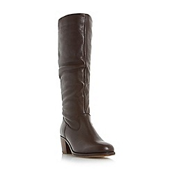 Roberto Vianni - Brown 'Tuckle' ruched round toe knee high boot