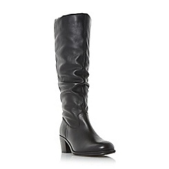 Roberto Vianni - Black 'Tuckle' ruched round toe knee high boot