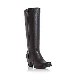 Roberto Vianni - Black 'Theona' exposed zip knee high boot