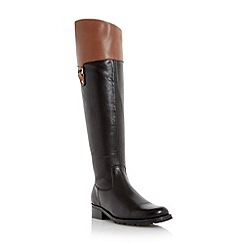 Roberto Vianni - Black 'Tibble' leather mix riding boot