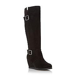 Roberto Vianni - Black 'Tarrant' wedge high boot
