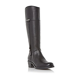 Roberto Vianni - Black 'Tiptree' buckle trim leather riding boot