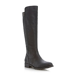 Roberto Vianni - Black cleated sole double zip knee high boot
